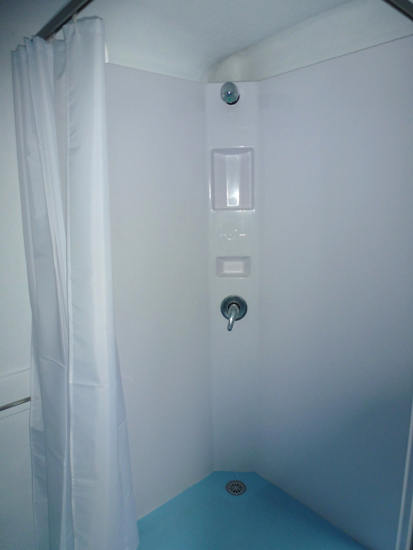 Portable Toilet with Shower and Basin for hire